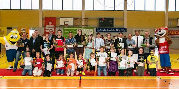 Mitgliederehrung zur Sportgala des 1. SSV Saalfeld